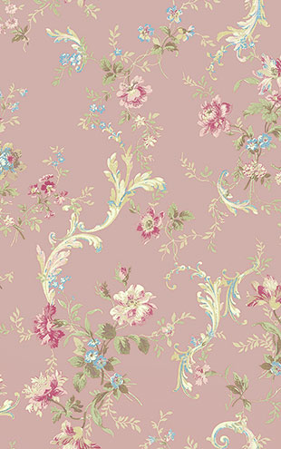WALLQUEST FLORA Florals with Scroll FG70501