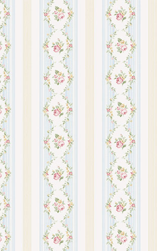 WALLQUEST FLORA Floral Stripe FG71101