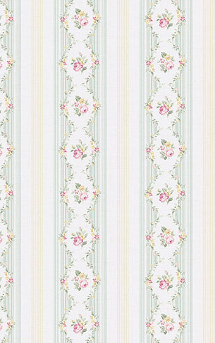 WALLQUEST FLORA Floral Stripe FG71102