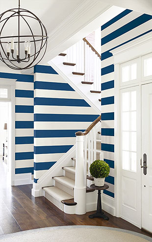 WALLQUEST / THE YACHT CLUB Large Stripe YC60521