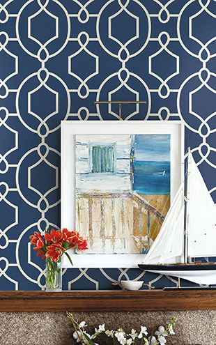 WALLQUEST / THE YACHT CLUB Large Geometric YC61102
