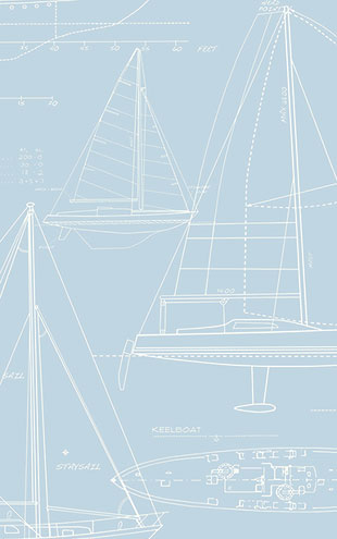 WALLQUEST / THE YACHT CLUB Yacht Blueprint YC61302