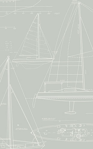 WALLQUEST / THE YACHT CLUB Yacht Blueprint YC61307