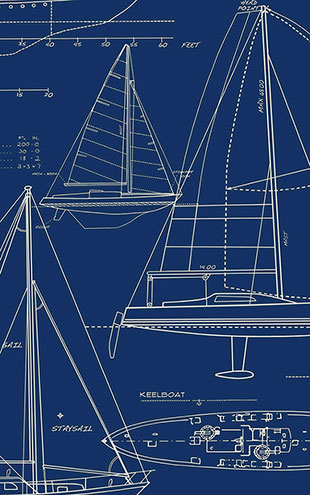 WALLQUEST / THE YACHT CLUB Yacht Blueprint YC61312