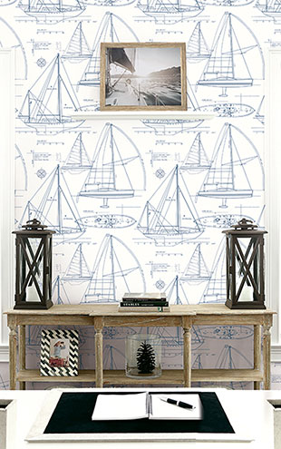 WALLQUEST / THE YACHT CLUB Yacht Blueprint YC61322