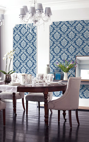 WALLQUEST / THE YACHT CLUB Damask YC62022