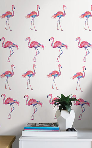 ウォールステッカー WALL POPS! / Pink Flamingo Applique Kit / DWPK2173