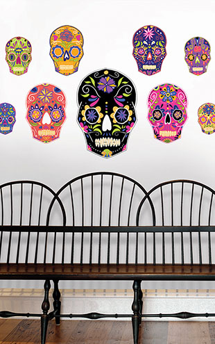 ウォールステッカー WALL POPS! / Skulls Large Wall Art Kit / DWPK2250