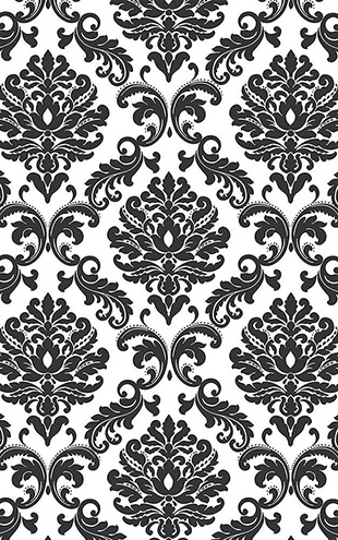 【限定数】はがせる シール 壁紙 NU WALLPAPER / Black Ariel Peel And Stick Wallpaper / NU1646(NUS1646)