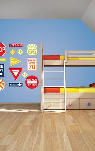 ウォールステッカー WALL POPS! / Road Signs Wall Art Decal Kit / WPK0617