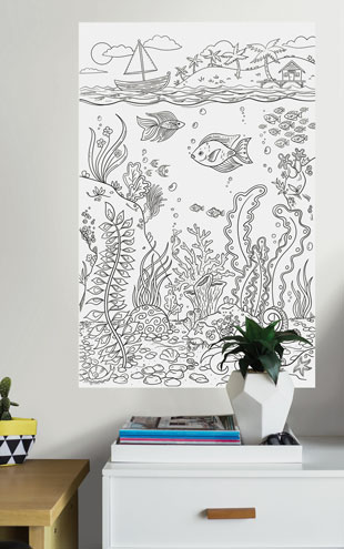 WALL POPS! / ウォールポップス WALL DECALS 「THE REEF COLORING」 WPK2184