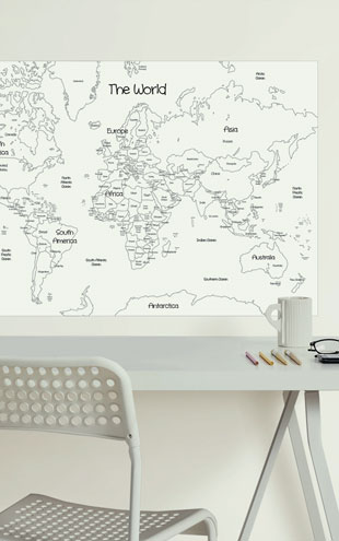 WALL POPS! / ウォールポップス WALL DECALS 「WORLD MAP COLORING」 WPK2200