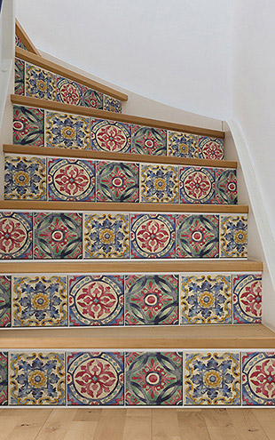 ウォールステッカー WALL POPS! / Iznik Tile Stair Stripe Decal / WPSS1984