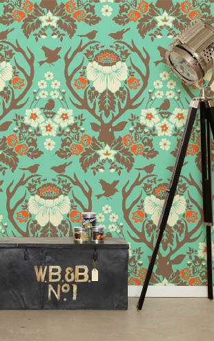 Wallpaper Republic Antler Damask / WR0137JD