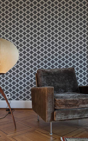 Wallpaper Republic Lodge Lattice / WR0150JD-G (grey)