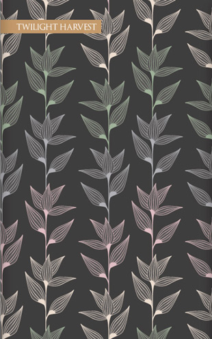 Wallpaper Republic Striated Leaves / WR0350PPC-TH(Twilight Harvest)