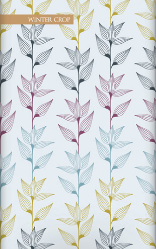 Wallpaper Republic Striated Leaves / WR0350PPC-WC (wintercrop)