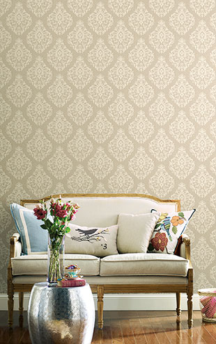 YORK / CALLAWAY COTTAGE Damask Spot Texture CT0818