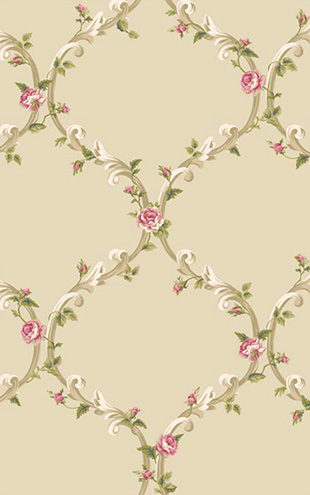 YORK / CALLAWAY COTTAGE Elegant Rose Trellis CT0848