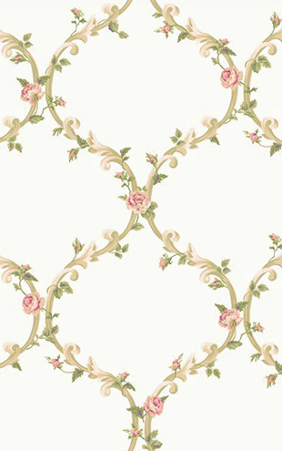 YORK / CALLAWAY COTTAGE Elegant Rose Trellis CT0849