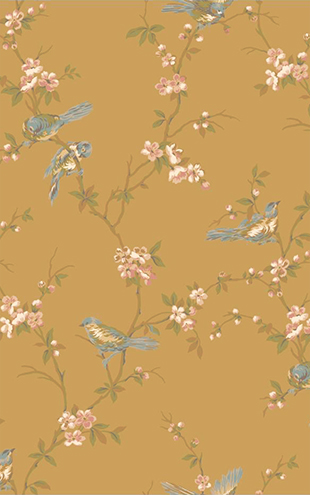 YORK / CALLAWAY COTTAGE Floral Branches W/Birds CT0869(The Blooming house6)